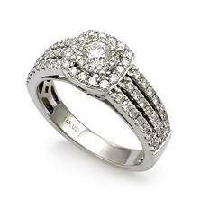 1.00 CT. T.W. Unique Brilliance Diamond Engagement Ring in 14K White Gold HI, I1