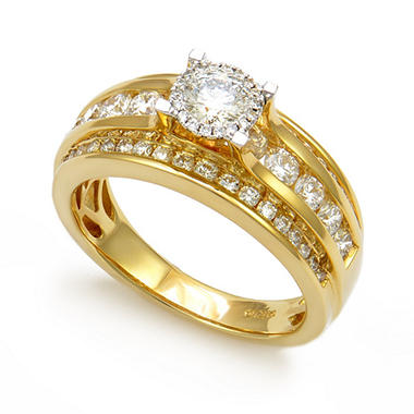 T.W. Unique Brilliance Diamond Engagement Ring Set In 14K Gold HI, I1