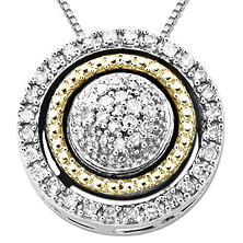 0.12 CT. T.W. Diamond Birthstone Pendant in Sterling Silver and 14K Yellow Gold (I, I1)