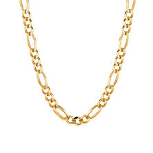 14 Karat Yellow Gold Solid Figaro Link Necklace - 22""