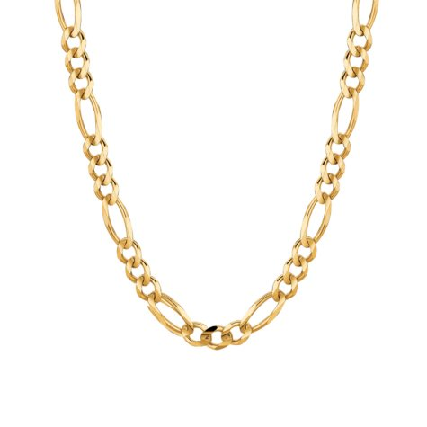 """14 Karat Yellow Gold Solid Figaro Link Necklace - 22"""""""