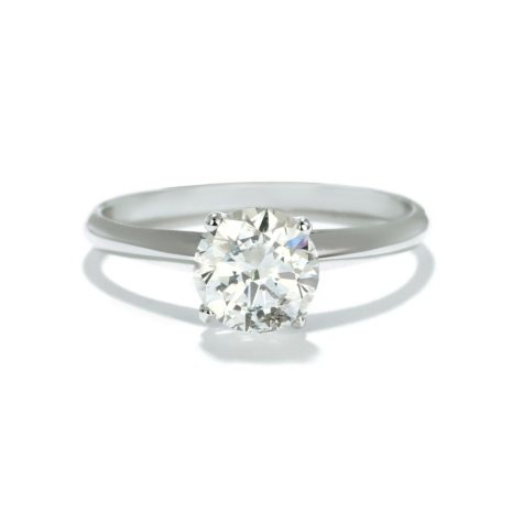 Premier Diamond Collection 1.07 CT. Round Solitaire Engagement Ring in 14K White Gold (H, I1)