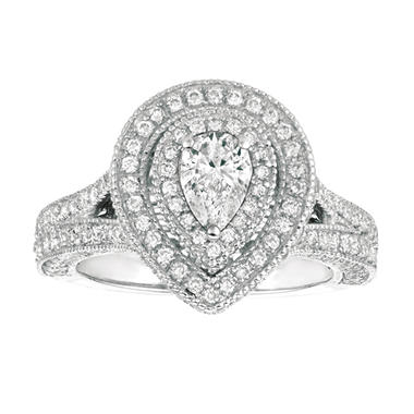 2.00 CT. T.W. Pear-Shape Diamond Engagement Ring 14K White Gold (I, I1)