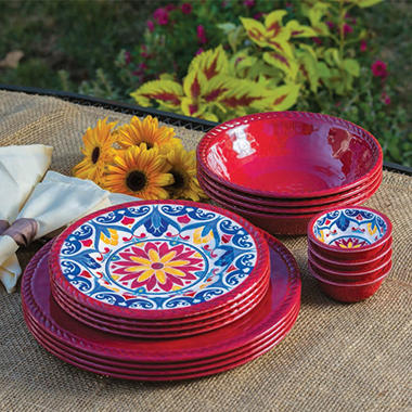 Melamine Dinnerware Set 16-Piece - $2.97 Shipping & Melamine Dinnerware Set 16-Piece - $2.97 Shipping - Samu0027s Club