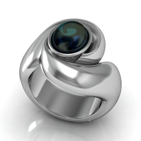 Sterling Silver and Iolite Whisper Ring