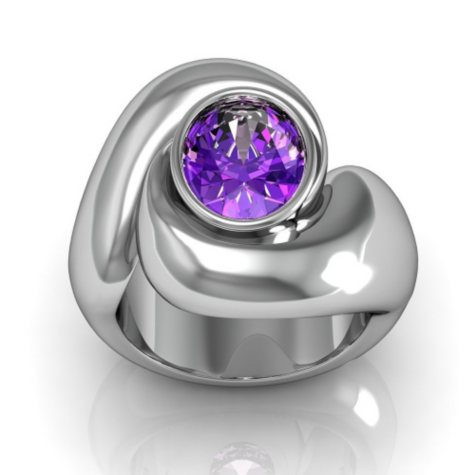 Sterling Silver and Amethyst Whisper Ring