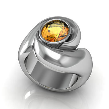 Sterling Silver and Citrine Whisper Ring