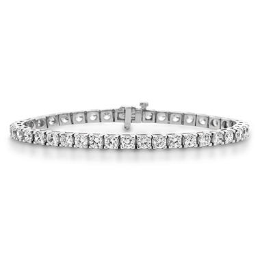 9.95 CT. T.W. Diamond Tennis Bracelet in 14K White Gold (H-I, I1)