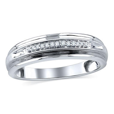0.06 CT. T.W. Vintage Design Diamond Band in 14K White Gold