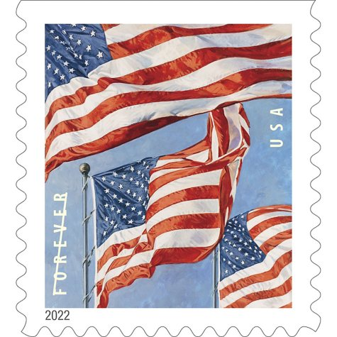 USPS FOREVER First Class Postage Stamps, U.S. Flag, Book of 20 Stamps