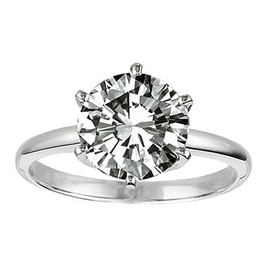 1.0 ct. Round-Cut Diamond Solitaire Ring (I, VS2)