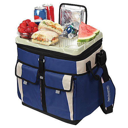 50 Can Collapsible TableTop™ Cooler With Easy Access Lid - Blue