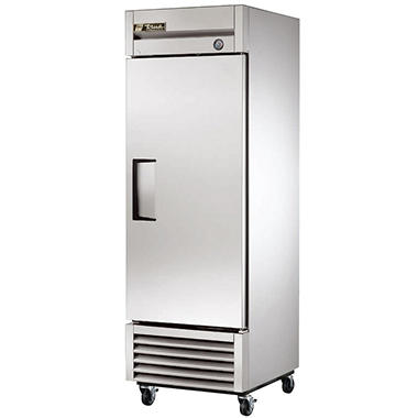 True 1-Door Stainless Steel Right-Hinged Freezer - 23 cu. ft.