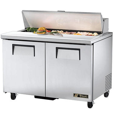 True 2-Door Stainless Steel Sandwich/Salad Prep Unit - 48