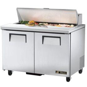 """True 2-Door Stainless Steel Sandwich/Salad Prep Unit - 48"""""""