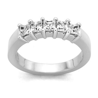 0.25 ct. t.w. 5-Stone Princess Diamond Band in 14k White Gold (H-I, I1)