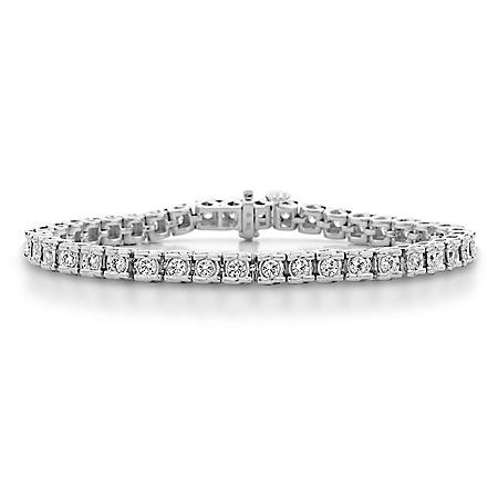 1 CT. T.W. Ribbons Diamond Bracelet in 14K Gold (H-I, I1)