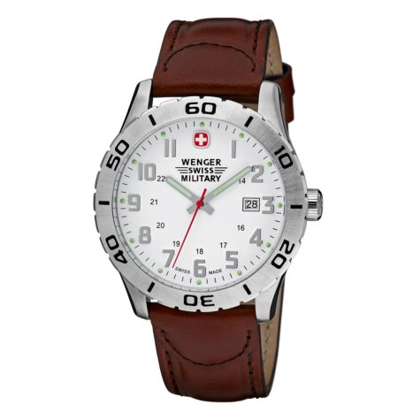 Wenger Swiss Military Grenadier Watch - White Dial Brown Strap