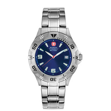 Wenger Swiss Military Men's Brigade Watch - Blue Dial with Markers