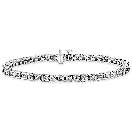 2.00 CT. T.W. Ribbons Diamond Bracelet in 14K Gold