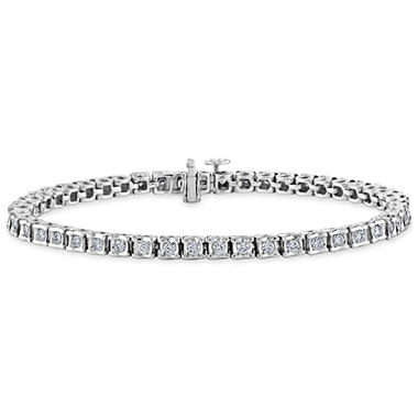 2.00 CT. T.W. Ribbons Diamond Bracelet in 14K Gold
