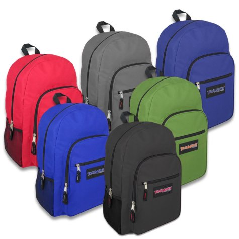 "Trailmaker 19"" Backpacks, Assorted Dark Colors, 24ct. Case"