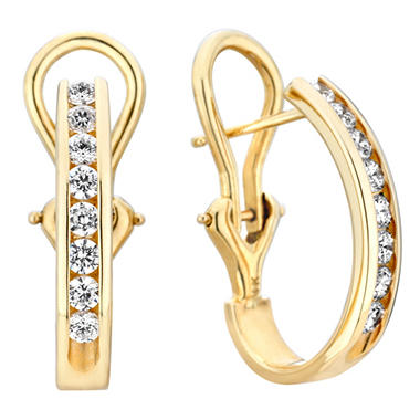 .46 CT. TW. Diamond Earrings in 14K White or Yellow Gold (H-I, I1)