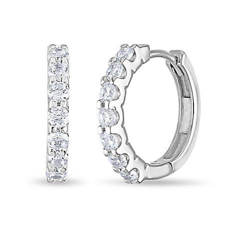 .23 CT. TW. Diamond Hoop Earrings in 14K Gold (H-I, I1)