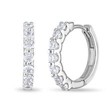 .23 CT. TW. Diamond Hoop Earrings in 14K White Gold (H-I, I1)