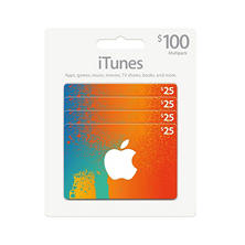 iTunes $100 Value Gift Cards - 4 x $25
