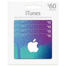iTunes $60 Value Gift Cards - 4 x $15