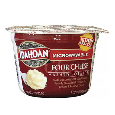 Idahoan Four Cheese Mashed Potatoes - 1.5 oz. Cups - 24 ct.