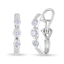 1 CT. TW. Diamond Earrings in 14K Gold (H-I, I1)