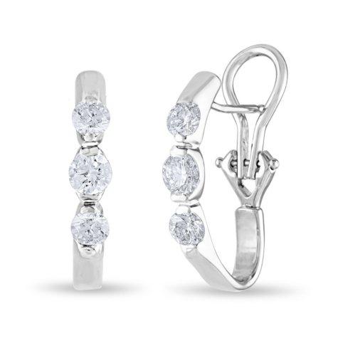 1 CT. TW. Diamond Earrings in 14K Gold (H-I, I1)