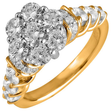 2.00 ct. t.w. Round Cut Diamond Engagement Ring in 14K Yellow Gold (I, I1)