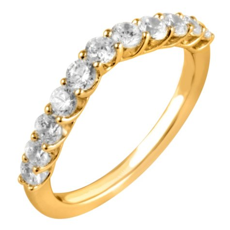 0.75 ct. t.w. Round Cut Diamond Wedding Band in 14K Yellow Gold (I, I1)
