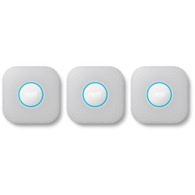 Nest Protect 2nd Generation Smart Smoke and Carbon Monoxide Alarm (3 Pack) - Choose Power Type