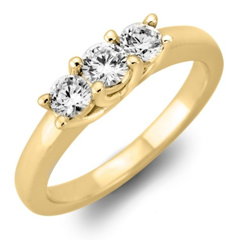 .46 CT. T.W. Round Diamond 3-Stone Ring in 14K White or Yellow Gold (I, I1)