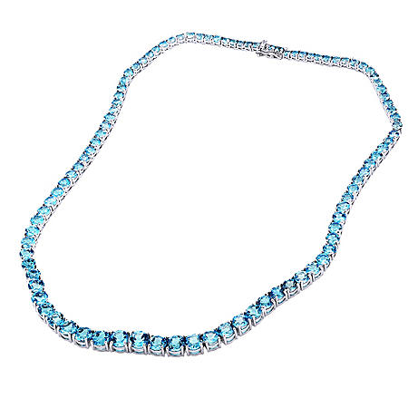 Swiss Blue Topaz Necklace in Sterling Silver (45 ct. t.w.)