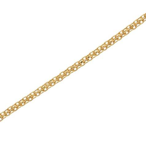 """Adjustable 8-11"""" Adjustable Bismark Ankle Bracelet in 14K Yellow Gold"""