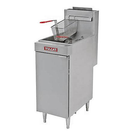 Vulcan LG400-1 45-50 lb. Capacity Free-Standing Natural Gas Fryer