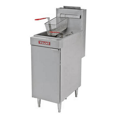 Vulcan LG400-1 45-50 lb. Capacity Free-Standing Natural Gas Fryer