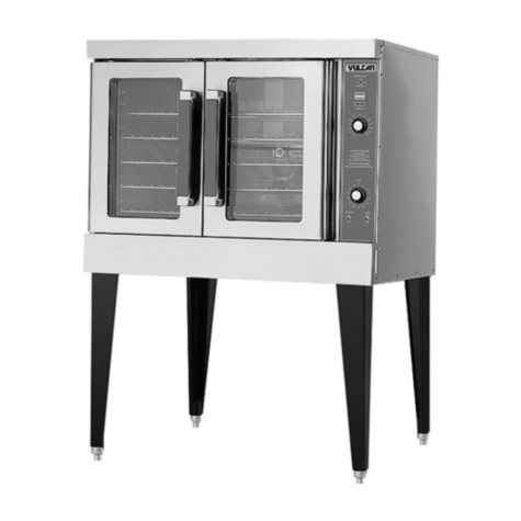 Vulcan VC4GD-10 Single Deck Natural Gas Convection Oven