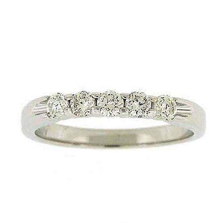 .48TW DIAMOND RING 5-STONE ROUND