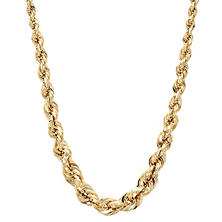 Graduated Rope Necklace in 14K Yellow Gold