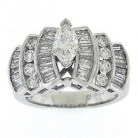 1.95TW DIAMOND RING .60CT MARQUISE CTR