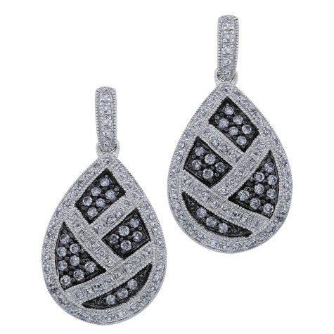 .75 ct. t.w. Silvermist Diamond Teardrop Earrings