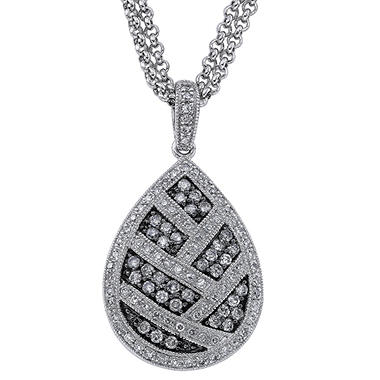 .75 ct. t.w. Silvermist Diamond Teardrop Pendant