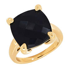 Onyx Ring in 14K Yellow Gold