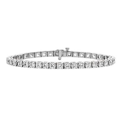 10.71 ct. t.w. Diamond Tennis Bracelet in 14K Gold (H-I, I1)